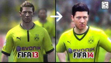 FIFA 14 Player Faces Comparison