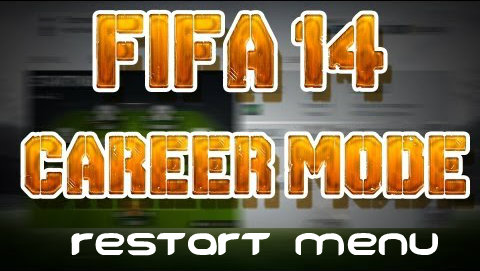 FIFA 14 Career Mode Menu