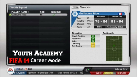 Career Mode Youth Academy Players
