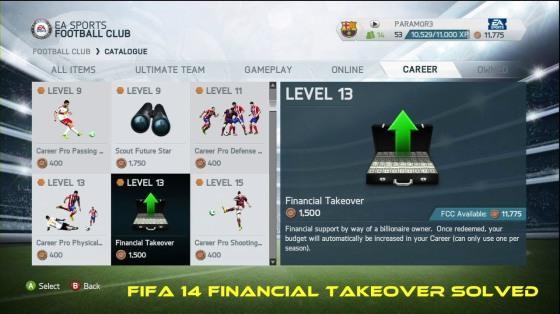 FIFA 14 Financial Takeover