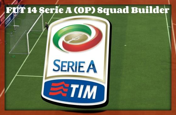 FUT 14 Serie A Squad Builder