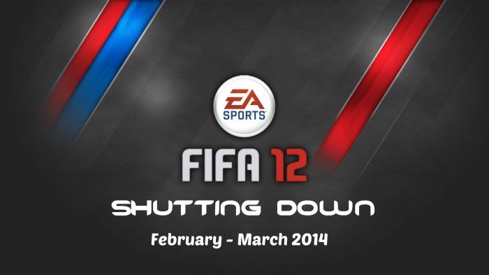 FIFA 12 Shutting Down