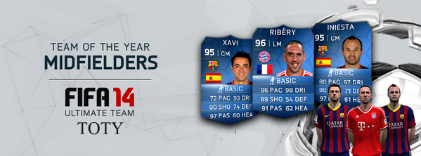 FIFA 14 TOTY Midfielders