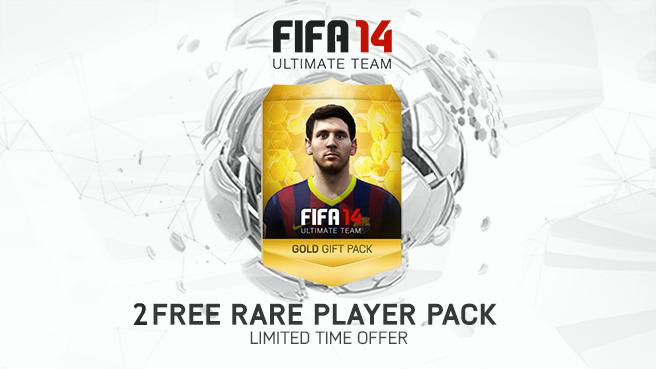 FUT 14 2 Rare Player Pack Offer