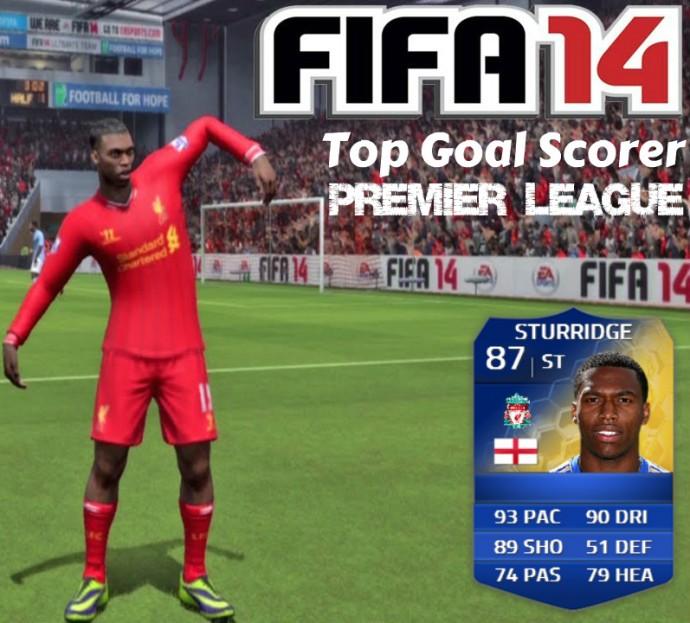 Daniel Sturridge Top Scorer FIFA 14