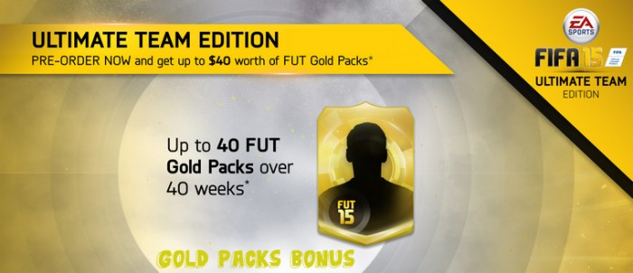 FIFA 15 Gold Packs Bonus