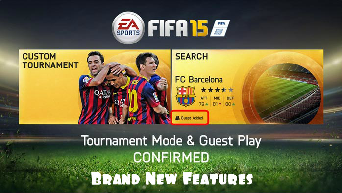 FIFA 15 Tournament Mode and Guest play