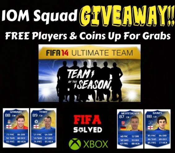 10M Squad Giveaway FIFA 14