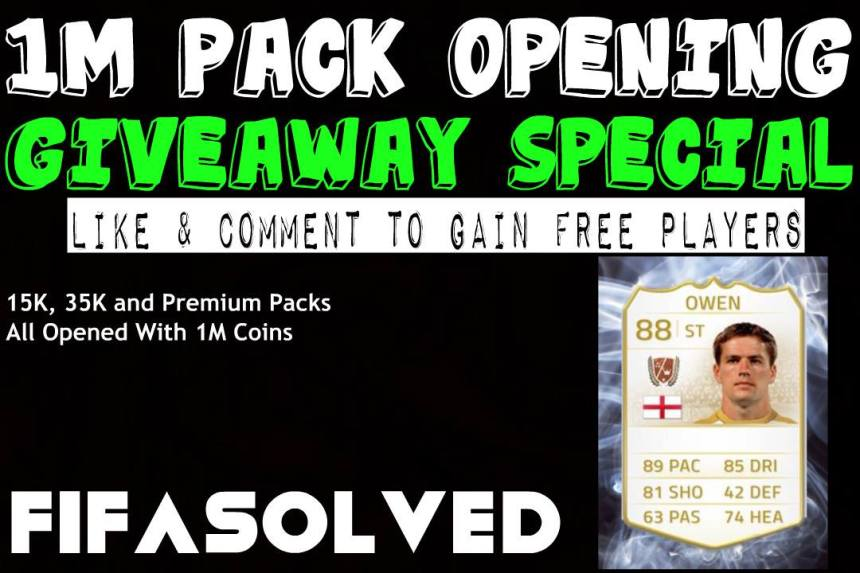 1M Pack Opening Giveaway FIFASolved