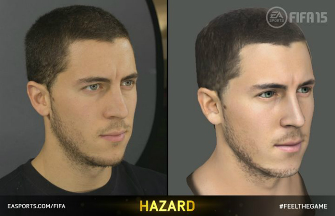 Eden Hazard Face Capture FIFA 15