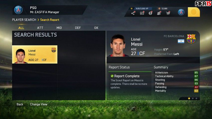 FIFA 15 Player Growth