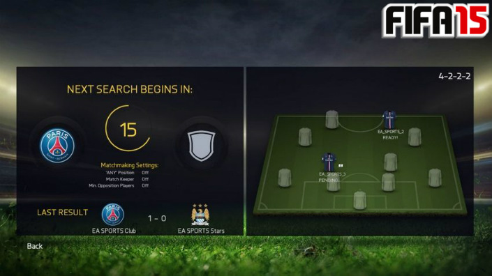 FIFA 15 Pro Club Matches