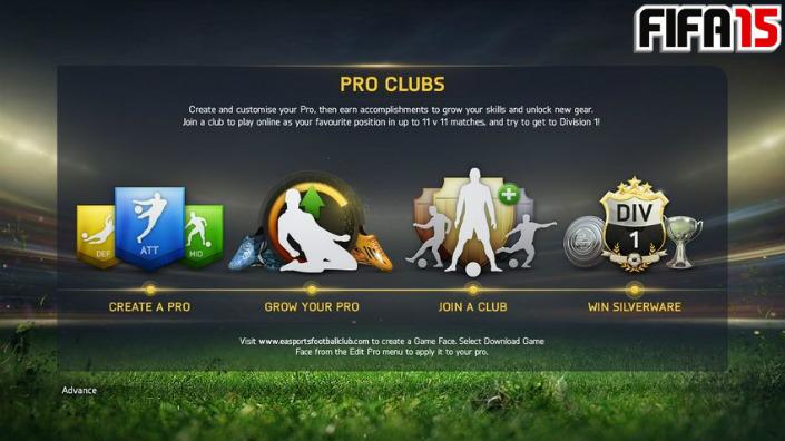FIFA 15 Pro Clubs