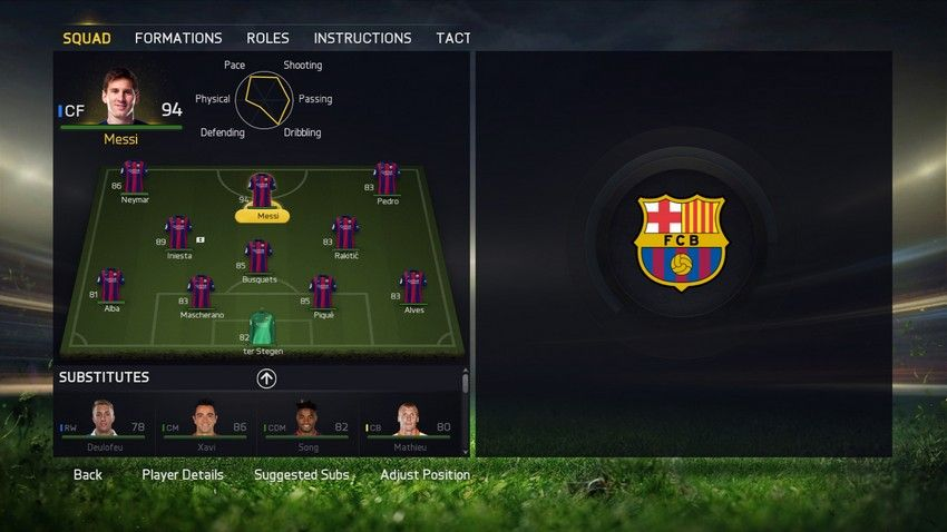 FIFA 15 Team Management Squad Tactics