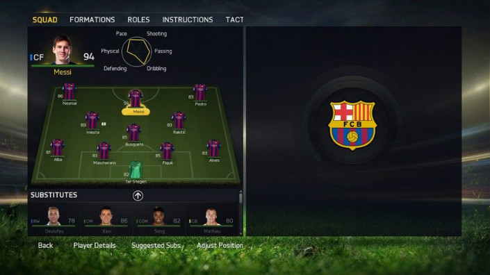 FIFA 15 Team Selection