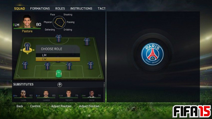 FIFA 2015 Player Position