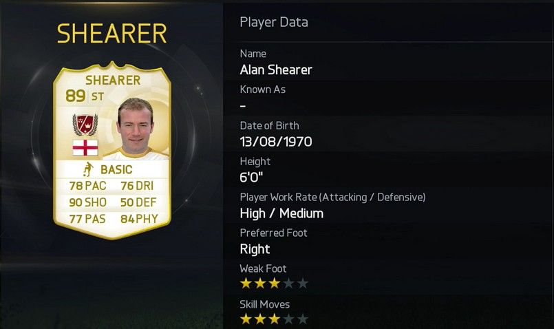 Alan Shearer FUT 15