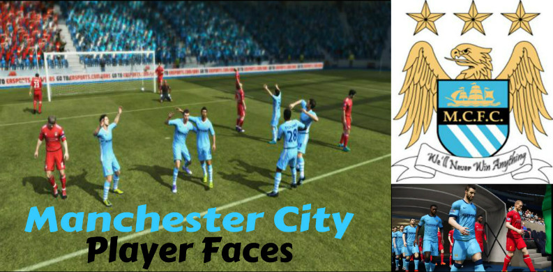 Man City Player Faces