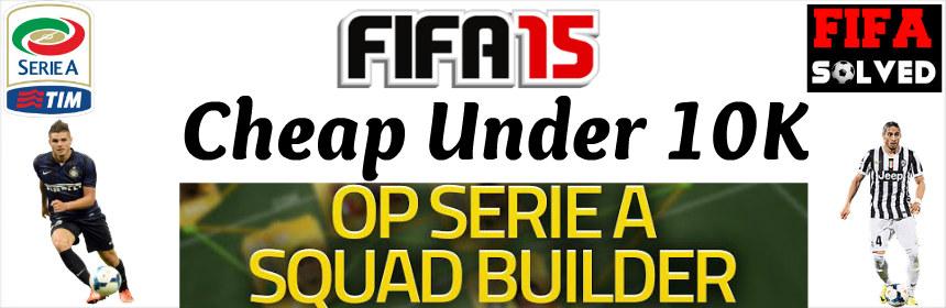 FIFA 15 Cheap Serie A Squad Builder