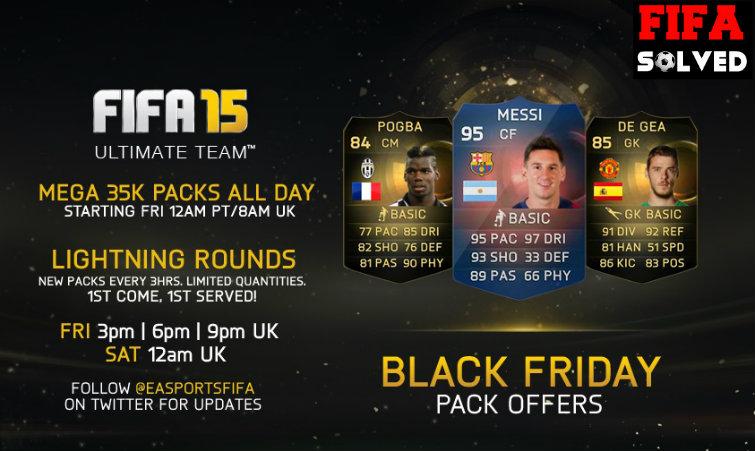 FUT 15 Black Friday Pack Offer