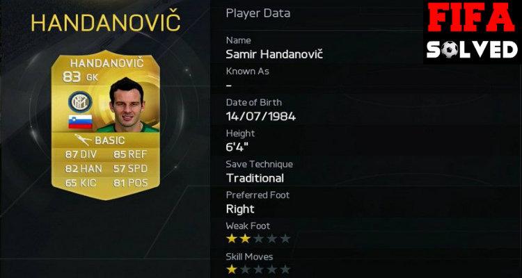 Samir Handanovic FUT 15 OP