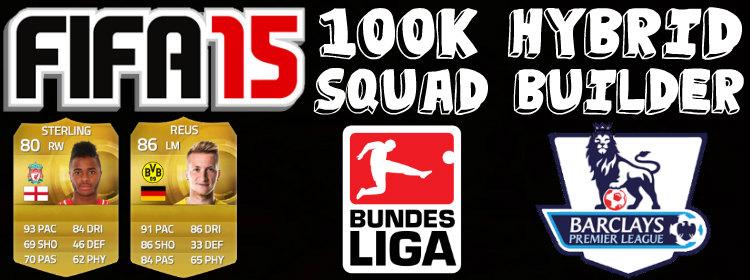 100K Hybrid FIFA 15 Squad Builder
