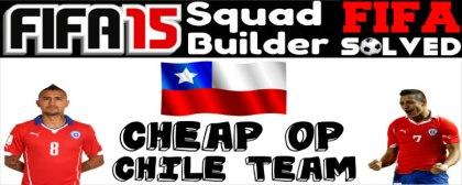 FIFA 15 Squad Builder Cheap Chile Team