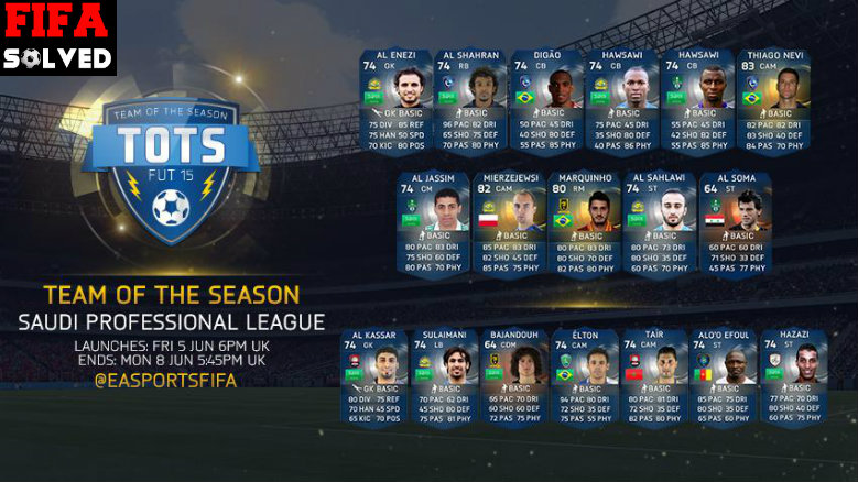 FUT 15 Saudi Professional League TOTS