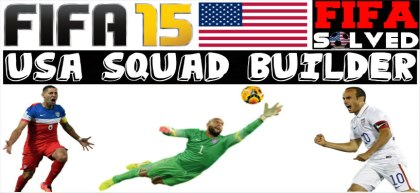 FIFA 15 Cheap USA Squad Builder