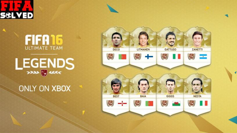 FIFA 16 New Ultimate Team legends
