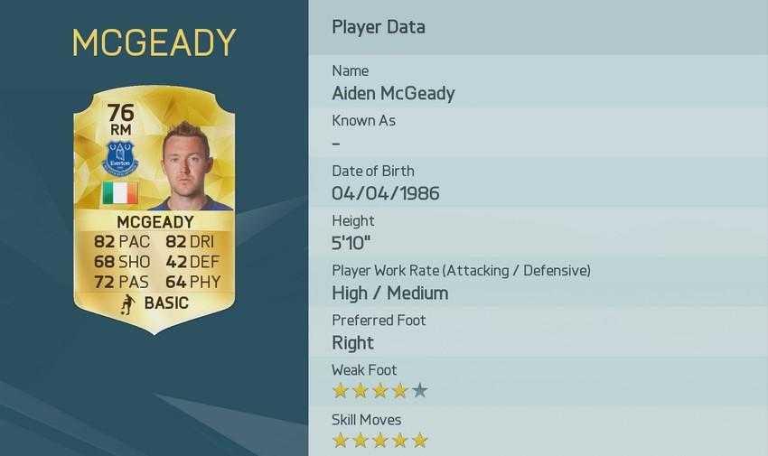 AIDEN MCGEADY FIFA 16