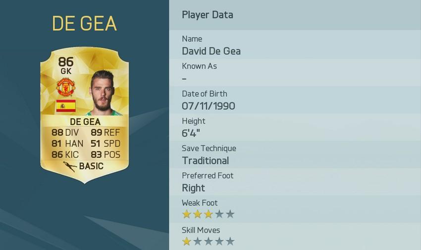 DAVID DE GEA FIFA 16