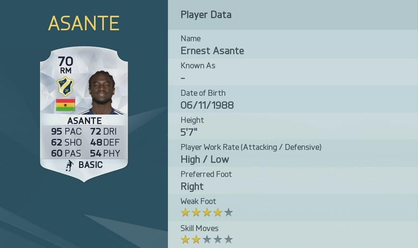 ERNEST ASANTE FIFA 16 Pace