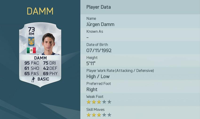 JÜRGEN DAMM FIFA 16 Pace