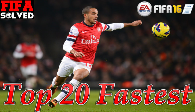 Top 20 Fastest Players On FIFA 16