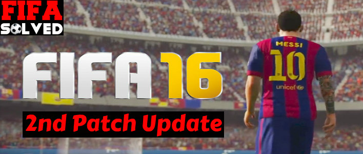 FIFA 16 Second Patch Update