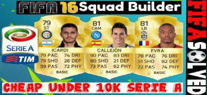 FIFA 16 Cheap 10K Serie A Squad Builder