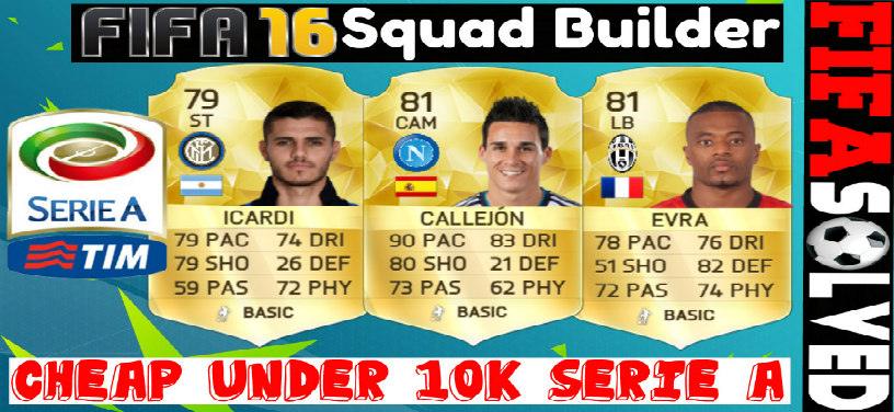 FIFA 16 Cheap 10K Serie A Squad Builder