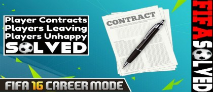 FIFA 16 Career Mode Player Contracts